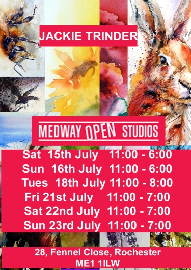 2017 Medway Open Studios flyer and times